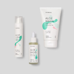 ALOE Sunrise Glow containing ALOE LIGHT, ALOE DROPS and ALOE WASH